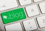 Blog key on a keyboard.